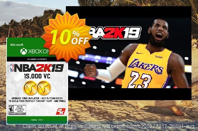 NBA 2K19: 15,000 VC Xbox One discount 10% OFF, 2021 Summer offering deals. NBA 2K19: 15,000 VC Xbox One Deal