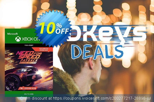 Need for Speed Payback Deluxe Edition Xbox One 特殊 产品销售 软件截图