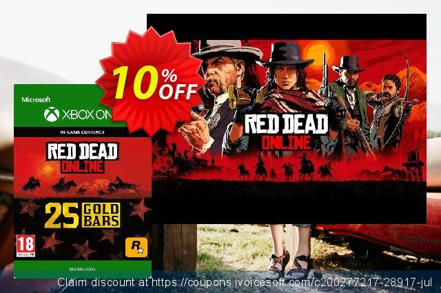 Red Dead Online: 25 Gold Bars Xbox One 优秀的 促销 软件截图