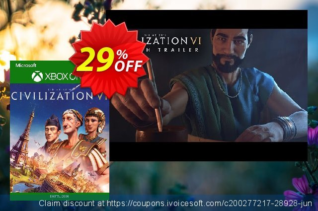 Sid Meier's Civilization VI 6 Xbox One (UK) discount 29% OFF, 2020 Halloween promo