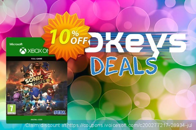 Sonic Forces Xbox One discount 10% OFF, 2020 Halloween offering sales