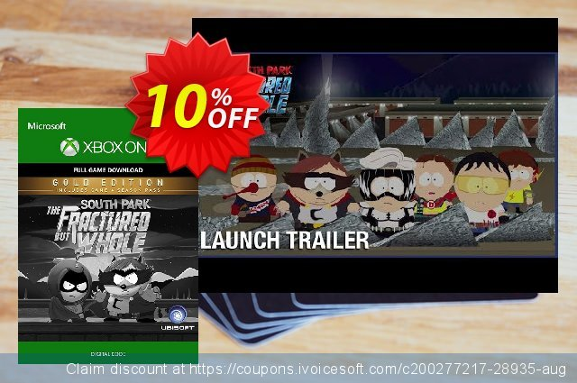 South Park: The Fractured but Whole Digital Gold Edition Xbox One discount 10% OFF, 2020 Halloween offering sales