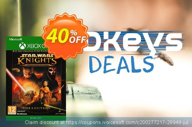 Star Wars - Knights of the Old Republic: The Collection Xbox One/ Xbox 360 discount 40% OFF, 2020 Halloween offering sales