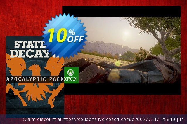 State of Decay 2 Apocalyptic Pack DLC Xbox One/PC discount 10% OFF, 2020 Halloween offering sales