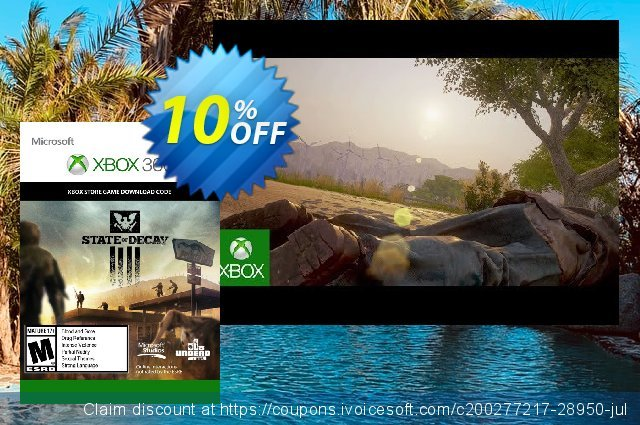 State of Decay Xbox 360 discount 10% OFF, 2020 Back to School coupons offering sales