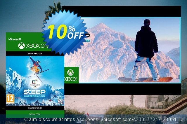 Steep Road to the Olympics Xbox One umwerfenden Außendienst-Promotions Bildschirmfoto