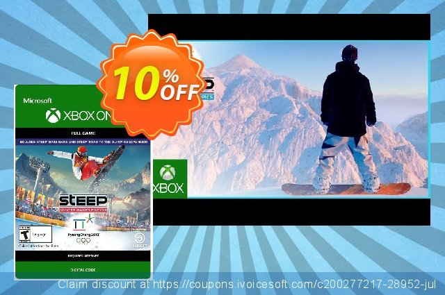 Steep - Winter Games Edition Xbox One discount 10% OFF, 2020 Exclusive Student deals offering sales