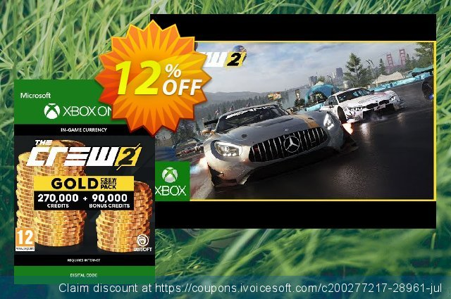 The Crew 2 Gold Crew Credits Pack Xbox One discount 12% OFF, 2020 College Student deals offer