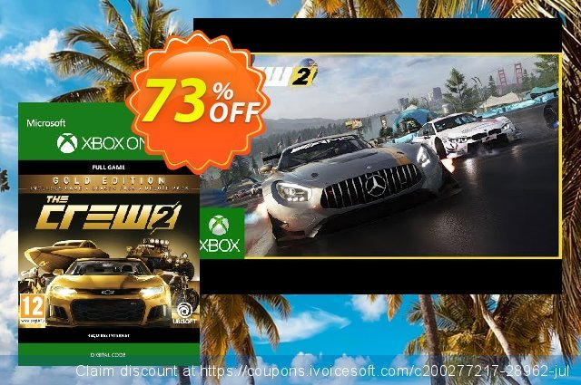 The Crew 2 Gold Edition Xbox One discount 15% OFF, 2020 Halloween offering discount