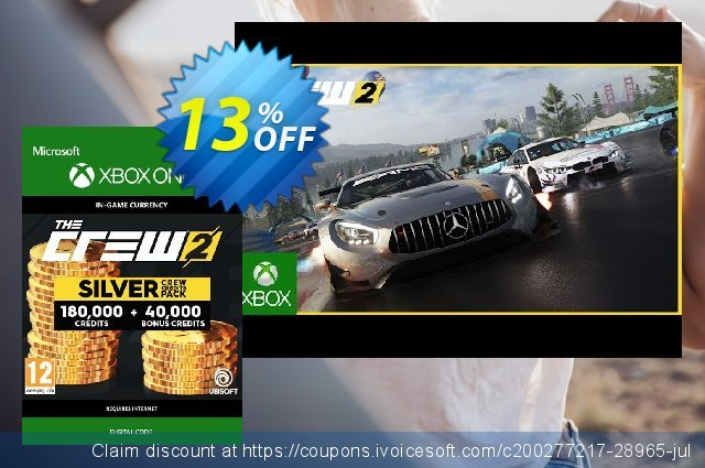 The Crew 2 Silver Crew Credits Pack Xbox One 最 产品销售 软件截图