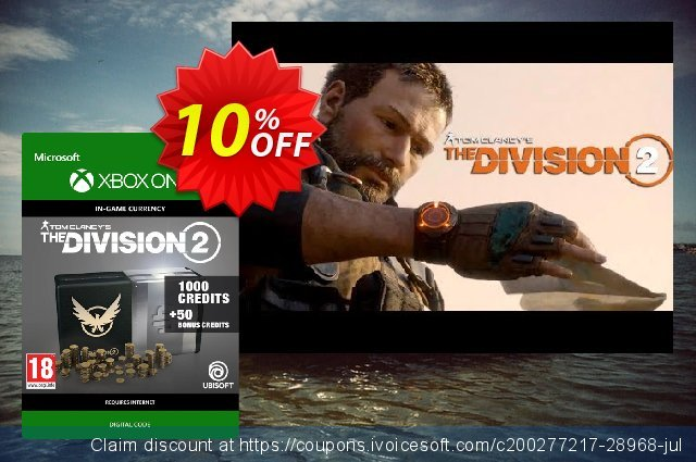 Tom Clancy's The Division 2 1050 Credits Xbox One discount 10% OFF, 2020 Halloween offering sales
