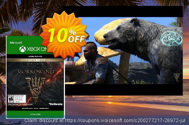 The Elder Scrolls Online Morrowind Upgrade Xbox One discount 10% OFF, 2020 Back to School season offering sales