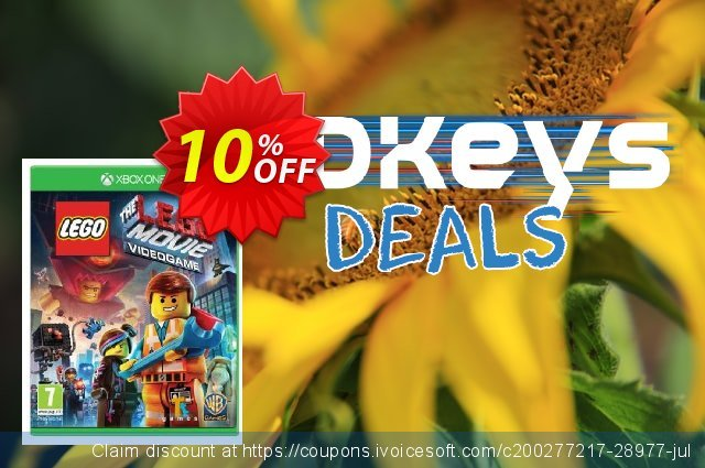 The LEGO Movie Videogame Xbox One - Digital Code discount 10% OFF, 2020 University Student offer promotions