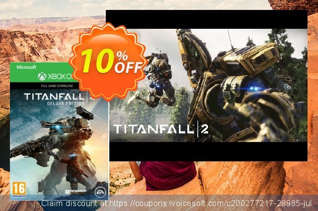 Titanfall 2 Deluxe Edition Xbox One discount 10% OFF, 2020 Back to School promotion promo sales