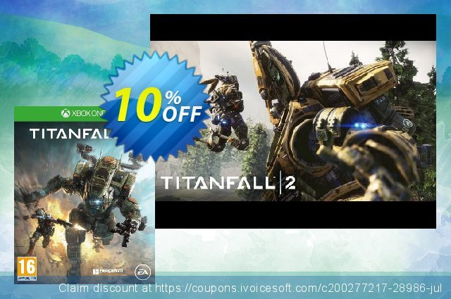 Titanfall 2 Xbox One discount 10% OFF, 2020 Back to School promo promo