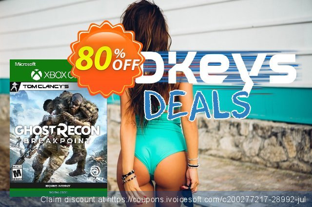 Tom Clancy's Ghost Recon Breakpoint Xbox One (US) discount 48% OFF, 2020 Back to School coupons offering sales