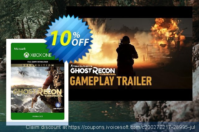 Tom Clancys Ghost Recon Wildlands Gold Edition Xbox One discount 10% OFF, 2020 Student deals discounts