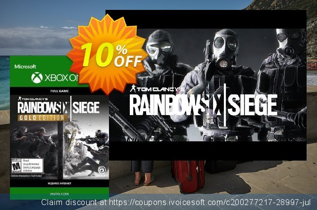 Tom Clancys Rainbow Six Siege Year 3 Gold Edition Xbox One discount 10% OFF, 2021 Happy New Year offering sales