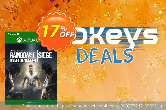 Tom Clancy's Rainbow Six Siege - Year 5 Pass Xbox One discount 10% OFF, 2020 University Student offer deals