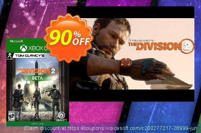 Tom Clancys The Division 2 Xbox One Beta 激动的 促销销售 软件截图