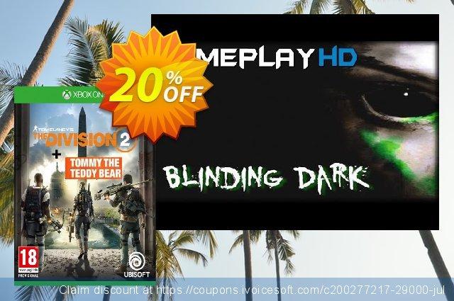 Tom Clancy's The Division 2 Xbox One Inc. Teddy Bear DLC discount 20% OFF, 2020 Teacher deals discount