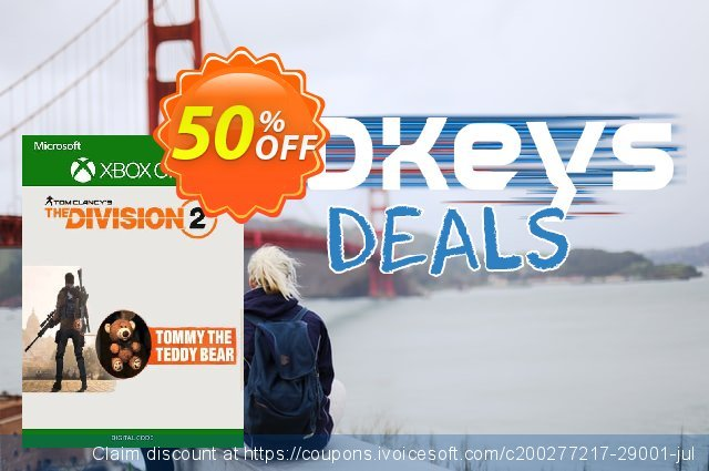 Tom Clancy's The Division 2 Xbox One - Tommy the Teddy Bear DLC discount 50% OFF, 2020 College Student deals offering discount
