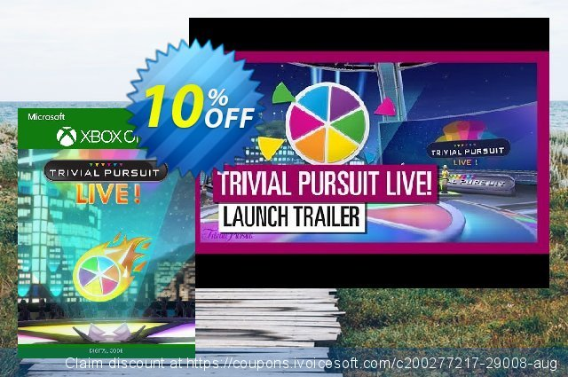 Trivial Pursuit Live! Xbox One (US) discount 10% OFF, 2020 Back to School event offering sales