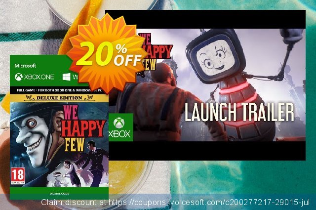 We Happy Few Deluxe Edition Xbox One / PC discount 20% OFF, 2020 Exclusive Student deals promotions