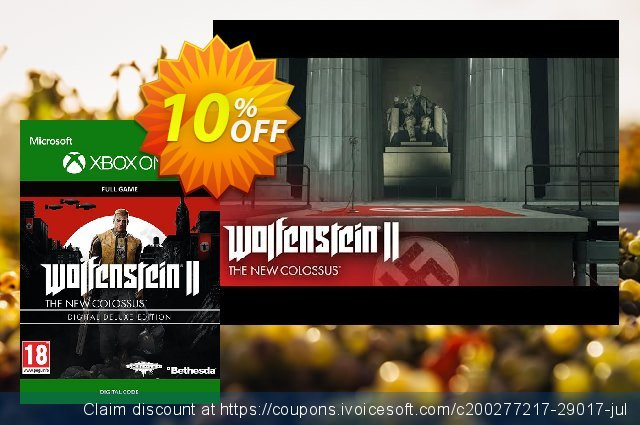 Wolfenstein 2: The New Colossus Digital Deluxe Edition Xbox One 最 促销 软件截图