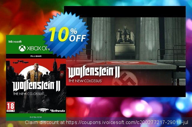 Wolfenstein 2: The New Colossus Digital Standard Edition Xbox One discount 10% OFF, 2020 Exclusive Teacher discount offer