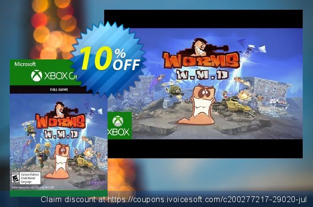 Worms W.M.D Xbox One discount 10% OFF, 2021 American Chess Day offering discount. Worms W.M.D Xbox One Deal