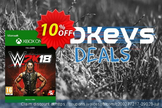 WWE 2K18 Xbox One discount 10% OFF, 2020 College Student deals promo sales