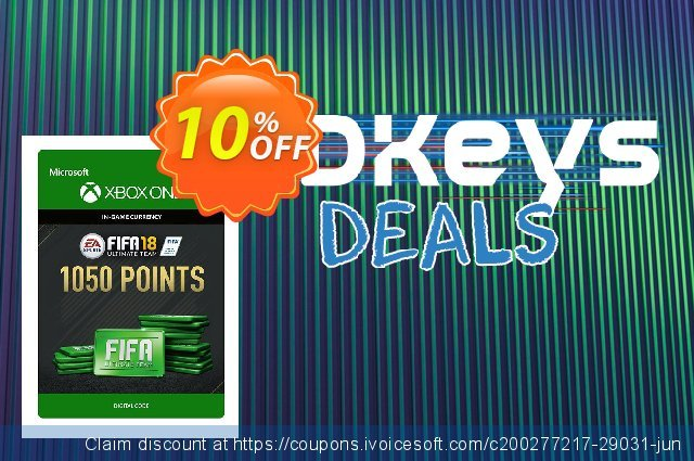 Fifa 18 - 1050 FUT Points (Xbox One) discount 10% OFF, 2020 Back to School deals offering sales