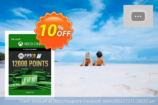 Fifa 18 - 12000 FUT Points (Xbox One) discount 10% OFF, 2020 Back to School shopping offering sales