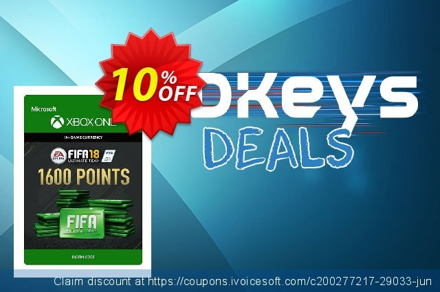 Fifa 18 - 1600 FUT Points (Xbox One) discount 10% OFF, 2020 Back to School offer discounts