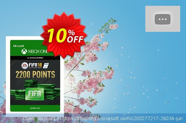 Fifa 18 - 2200 FUT Points (Xbox One) discount 10% OFF, 2020 Back to School coupons promotions