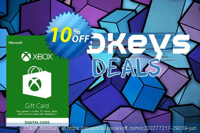 Microsoft Gift Card - $10 (Xbox One/360) discount 10% OFF, 2020 Exclusive Teacher discount offering discount