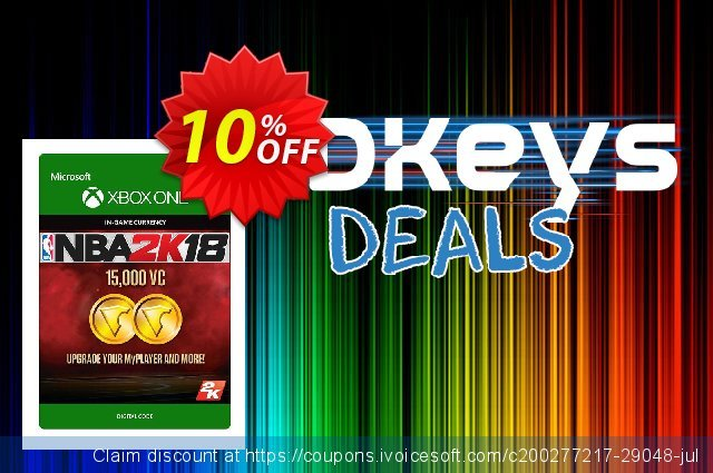 NBA 2K18 15,000 VC (Xbox One) discount 10% OFF, 2020 Halloween offering sales