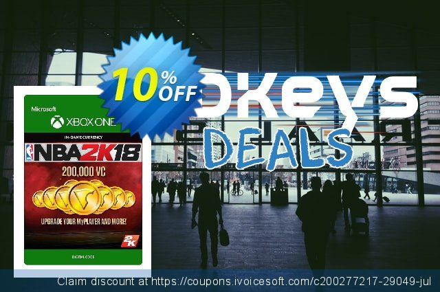 NBA 2K18 200,000 VC (Xbox One) discount 10% OFF, 2020 Back to School promo offering sales
