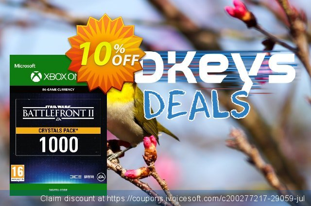 Star Wars Battlefront 2: 1000 Crystals Xbox One discount 10% OFF, 2020 Exclusive Student discount offering sales