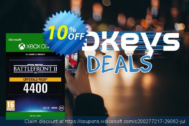 Star Wars Battlefront 2: 4400 Crystals Xbox One discount 10% OFF, 2020 University Student deals promo