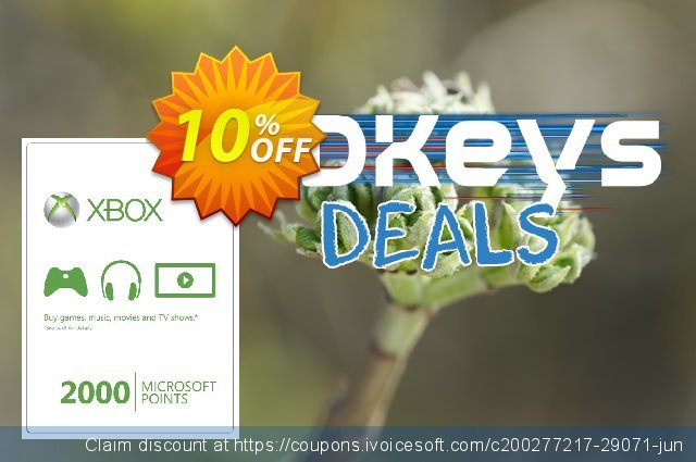 Xbox Live 2000 Microsoft Points (Xbox 360) discount 10% OFF, 2020 Halloween promotions