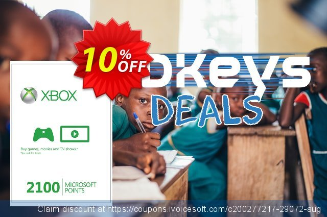 Xbox Live 2100 Microsoft Points (Xbox 360) discount 10% OFF, 2020 Halloween sales