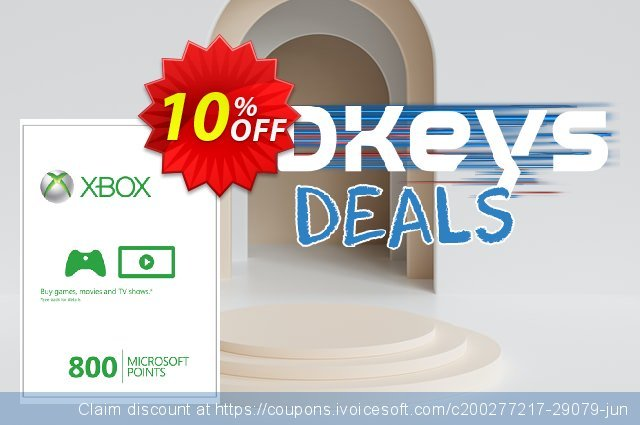 Xbox Live 800 Microsoft Points (Xbox 360) discount 10% OFF, 2020 Student deals offering deals