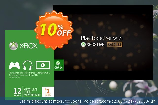 12 + 1 Month Xbox Live Gold Membership (Xbox 360) discount 10% OFF, 2020 Exclusive Student discount promo sales
