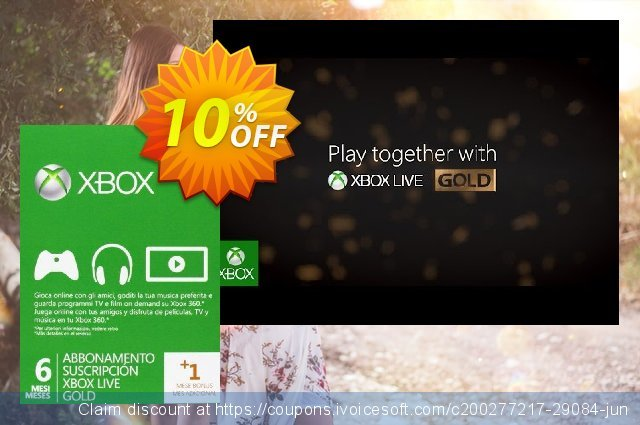 6 + 1 Month Xbox Live Gold Membership (Xbox One/360) discount 10% OFF, 2020 Teacher deals offering sales
