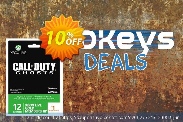 12 + 1 Month Xbox Live Gold Membership - Call of Duty Ghosts Branded (Xbox One/360)  대단하   세일  스크린 샷