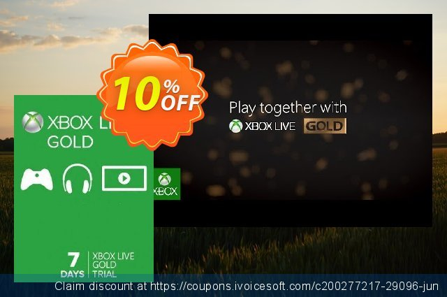 7 Day Trial Xbox Live Gold Membership (Xbox One/360) 令人惊讶的 折扣 软件截图