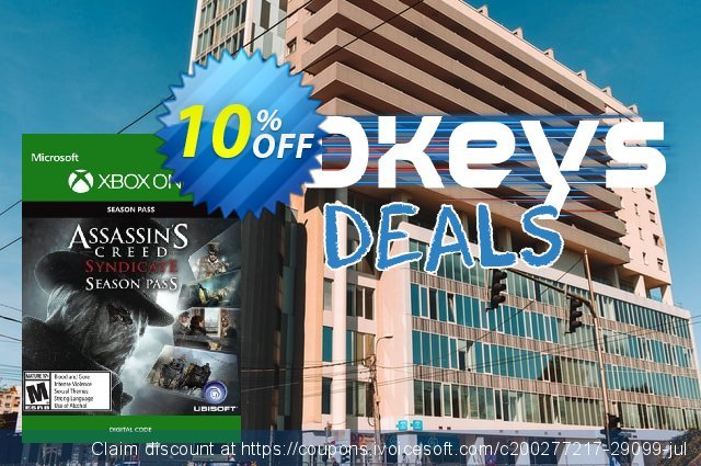 Assassins Creed Syndicate Season Pass Xbox One discount 10% OFF, 2020 Halloween promo