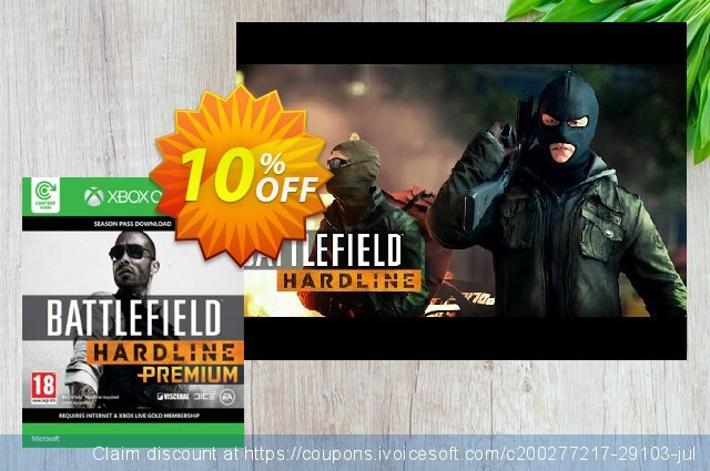 Battlefield Hardline Premium Xbox One discount 10% OFF, 2020 University Student offer offering sales